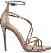 Office Angel metallic heeled sandals