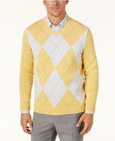 Club Room Men's Argyle Pima Cotton Sweater, Created for Macy's