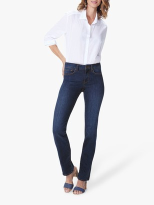 NYDJ Marilyn Straight Leg Regular Jeans, Cooper Blue