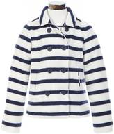 Nautica Little Girls' Striped Fleece Peacoat (2T-7)