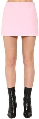 Valentino Couture Wool Blend Crepe Mini Skort