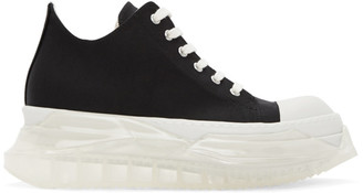 Rick Owens Black and White Abstract Sneakers