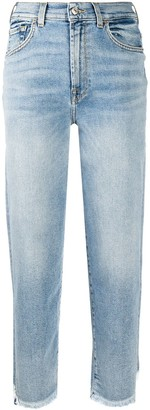 7 For All Mankind High-Waisted Cropped Jeans