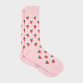 Paul Smith Men's Pink Strawberry Skull Socks
