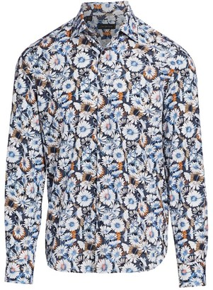 Saks Fifth Avenue COLLECTION Large Daisy Print Shirt