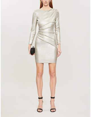 Jitrois Lily metallic ruched leather mini dress