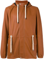 Loewe hooded hiking jacket - men - Cotton/Lamb Skin/Polyamide/Polyurethane - 48