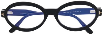 Tom Ford Oval-Frame Clear-Lens Glasses
