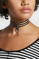 Forever 21 O-Ring Cutout Faux Leather Choker
