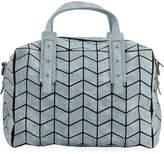 Patrizia Luca Slanted Square Geo Pattern Duffel Bag