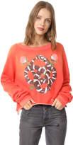 Wildfox Couture Snake Charmer Monte Crop Sweatshirt