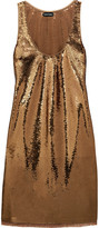 Tom Ford Sequined stretch-tulle mini dress