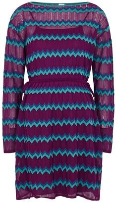 M Missoni Zigzag fine-knit mini dress