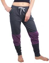 Magid Gray & Purple Ribbed Color Block Joggers - Plus Too