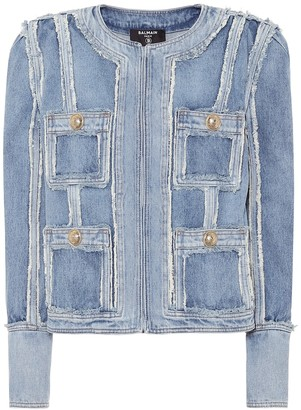 Balmain Frayed denim jacket