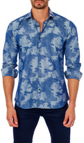 Jared Lang Printed Long Sleeve Trim Fit Shirt