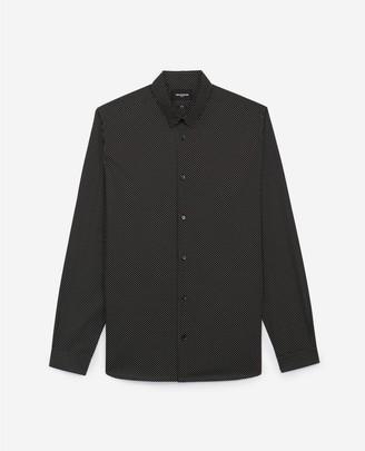 The Kooples Printed black shirt with white polka dots