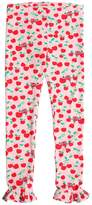 Fendi Cherry Print Cotton Jersey Leggings