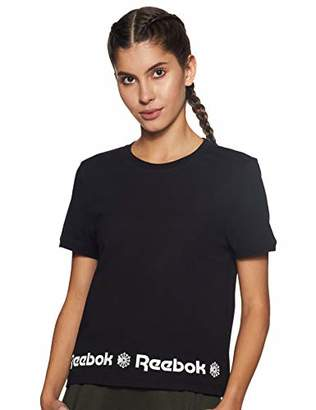 Reebok Women's F Starcrest Hem Gr T-Shirt,(Taglia produttore L)
