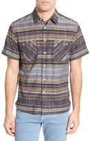 Billy Reid Donelson Standard Fit Short Sleeve Striped Shirt
