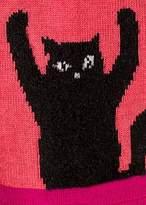 Paul Smith Women's Coral 'Cat' Motif Socks