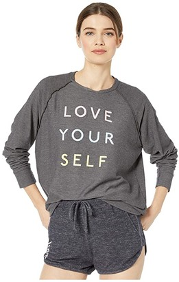 good hYOUman Mary Beth Love Yourself Pullover (Carbon) Women's Clothing