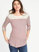 Old Navy Maternity Relaxed Striped Boat-Neck Tee