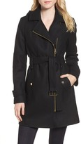 MICHAEL Michael Kors Women's Belted Wool Blend Coat With Detachable Hood