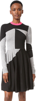 McQ by Alexander McQueen Alexander McQueen Colorblock Sweater Dress