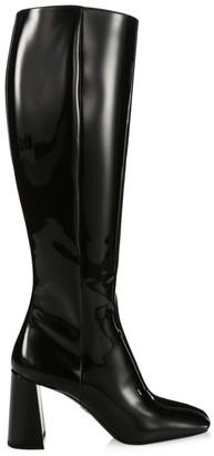 Prada Tall Patent Leather Boots