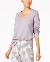 Hue V-Neck Long Sleeve Pajama T-Shirt