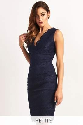Lipsy Petite Lace Bodycon Dress - 6 - Blue
