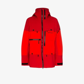 Peak Performance red vertical hooded parka