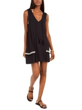 Dotti Resort Pom-Pom-Trim Cover-Up Dress Women's Swimsuit