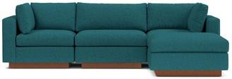 Apt2B Taylor Plush 4pc Modular Chaise Sectional Sofa