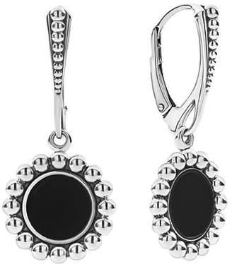 Lagos Sterling Silver Maya Black Onyx Drop Earrings