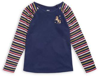 Epic Threads Little Girl's Striped Long-Sleeve Cotton-Blend Tee
