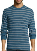 ST. JOHN'S BAY St. John's Bay Long-Sleeve Striped Thermal Shirt