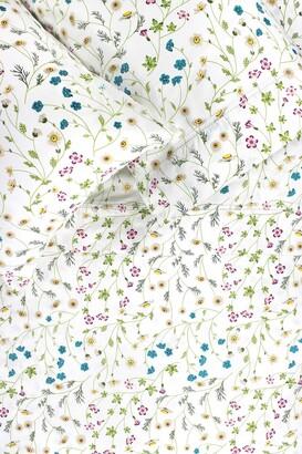 Melange Home Queen 400 Thread Count Cotton Wildflower Sheet 4-Piece Set - Multi