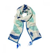 Mela Artisans Flight in Blue Scarf