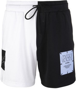 McQ White And Black Genesis Ii Man Sport Bermuda