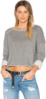 525 America Unfnished Edge Sweatshirt in Gray
