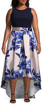BLUE SAGE Blu Sage Sleeveless Evening Gown-Plus