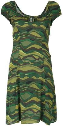 AMIR SLAMA Wave Print Dress