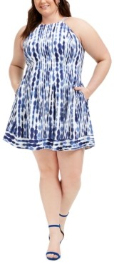 Vince Camuto Plus Size Fit & Flare Halter Dress