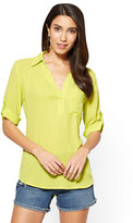 New York & Co. Soho Soft Shirt - One Pocket Popover - Solid
