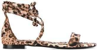 Tabitha Simmons Leopard Print Sandals
