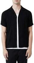 Topman Men's Revere Collar Short Sleeve Shirt