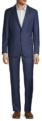 Hickey Freeman Milburn IIM Series Regular-Fit Wool Suit