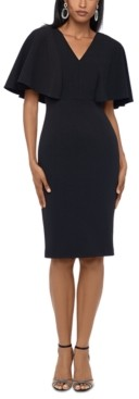 Betsy & Adam Flutter-Sleeve Sheath Dress